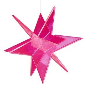 Cazador-Del-Sol Estrella Sonnenfänger 3D Stern Schwebend 20 x 20 cm - Rot