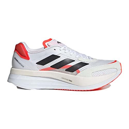 adidas Boston Increase 10 Straßenlaufschuhe für Männer Weiß Schwarz Rot 40 2/3 EU thumbnail