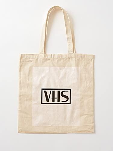 VCR Horror 80S Retro Movies VHS Vhstapes   Einkaufstaschen aus Leinen mit Griffen, Einkaufstaschen aus robuster Baumwolle