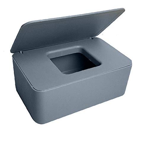 Wet Wipes caja, caja de almacenaje para toallitas secas de tejido húmedo titulares de servilleta de papel gris con dispensador del sostenedor del tejido tapas Toallitas dispensador de Inicio de