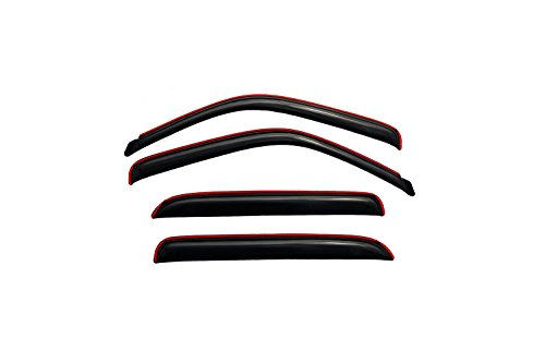 Auto Ventshade 194355 In-Channel Ventvisor Side Window Deflector, 4-Piece Set for most 2001-2006 GM Full Size Crew Cab Trucks and SUV's - Consult application guide to verify fitment | Also fits 2007 HD Classic Crew Cab Models , Black , 46.88 Inch