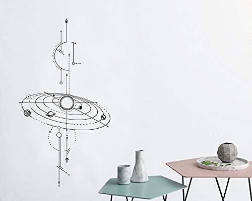 Usmnxo 57x105cm Pegatina de Pared geométrica Vertical astronomía Ciencia Vinilo Pegatina Novio Regalo Espacio Exterior decoración de habitación