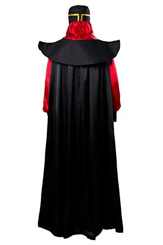 Disfraz De Pelicula para Hombre Pelicula De Halloween Cosplay Camisa Negra De Manga Larga para Adulto Sombrero De Pano Uniforme con Capa De Saten Disfraces De Carnaval