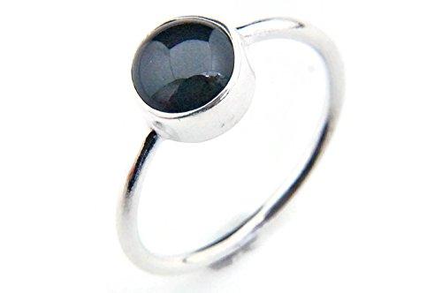 Ring Silber 925 Sterlingsilber Onyx schwarz Stein (Nr: MRI 78), Ringgröße:50