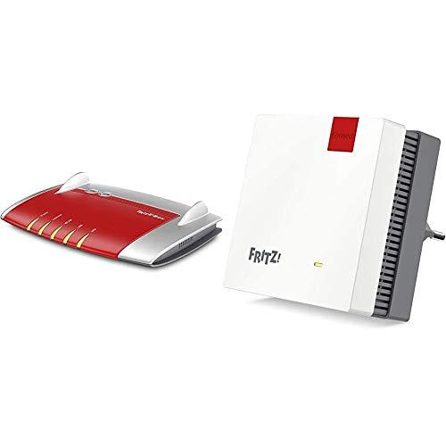 AVM Fritz!Box 4040 WLAN Router (für den Betrieb an einem Modem am Kabel-/DSL-/Glasfaser-Anschluss, geeignet für Deutschland) & Fritz!WLAN Mesh Repeater 1200