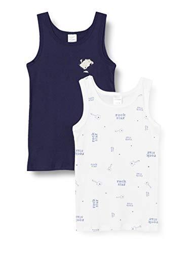 Schiesser Jungen Multipack 2PACK Hemd 0/0 Unterwäsche, Mehrfarbig (Sortiert 1), 116 (2er Pack)