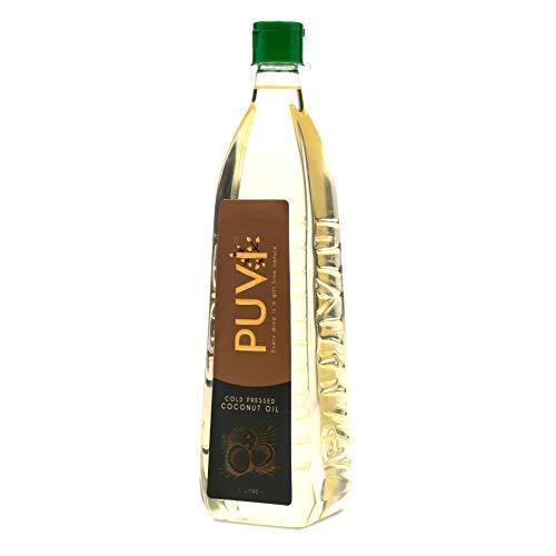 Puvi 1L Cold Pressed Coconut oil (Chekku / Ghani) 1 Litre