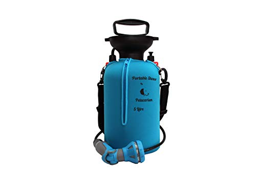 Petacarium Insulated Portable Shower (5 Litre, Blue) for Dogs, Camping,...