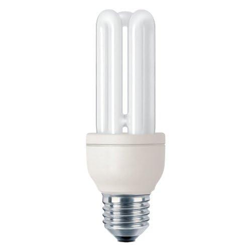 Philips Genie Lampadina a risparmio energetico a tubi scoperti, 14 W E27 (220-240 V, 100 mA, 132 mm), Luce fredda