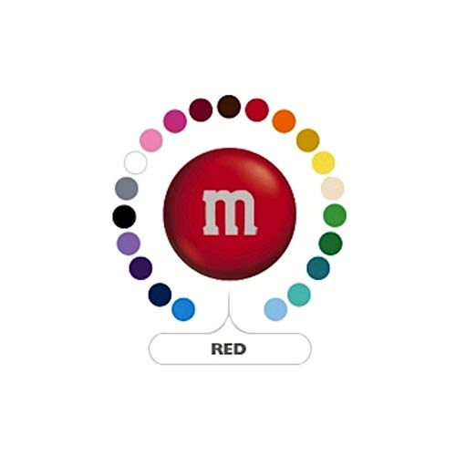 M&M's Red Milk Chocolate Candy 1LB Bag