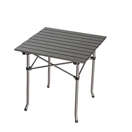 Table Pliante extérieure portative Camping Table de Barbecue Table de Pique-Nique de Plage en Aluminium de Levage (Color : A)