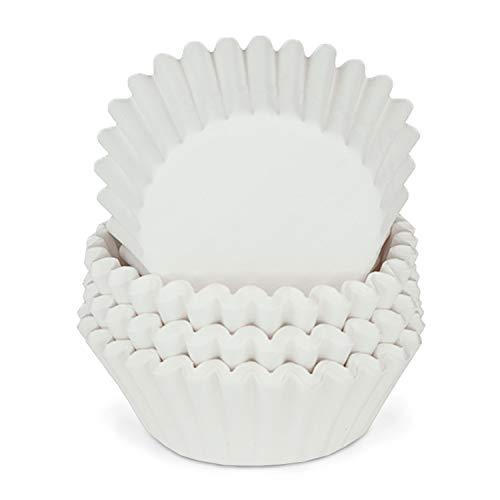 Miss Bakery's House® Mini-Muffinförmchen Standard - Ø 32 mm x 20 mm - Weiß - 200 Stück - Papier-Backförmchen - Cupcakes, Muffins und Pralinen