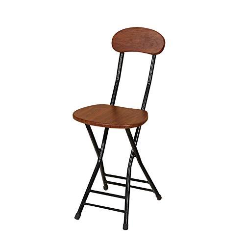 TT&D barkruk AGLZWY eetkamerstoel draagbaar met rugleuning, metalen houder veelzijdig inzetbaar, 7 kleuren (kleur: D, grootte: 30 x 24 x 75 cm) 30X24X75CM Gtaglzwx5306r-5