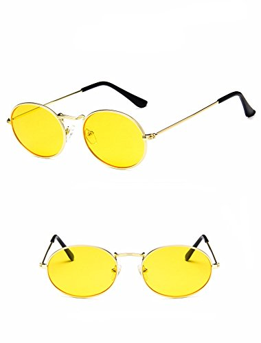 Retro oval sunglasses women brand designer small black vintage retro sun glasses (05)