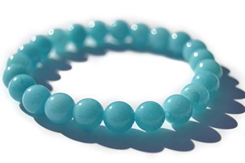 Pulsera Jade azul Piedra natural semipreciosa hombre mujer equilibrio curación chakras yoga reiki meditación kundalini