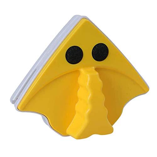 Rpanle Limpiador de Ventanas Magnetico, Eficaz para Ventanas de un Solo Vidrio con Espesor de 3-8 mm, Cepillo de Llimpieza Doble Cara con Cuerda Anti-caída (Amarillo)
