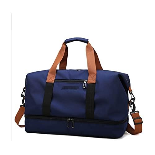 ZHONGTAI Bolsa de Lona Ligera para Lienzo para Viajar. Bolsa de semenario de la Noche para el Hotel Business School Hotel Fin de Semana Vista Camping (Color : Blue)