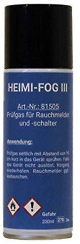 Heimlich Prüfaerosol FogIII Prüfspray Spray Prüfgas Testspray Rauchmelder 200 ml