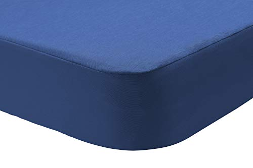 Pikolin Home - Sabana bajera protector Lyocell 2 en 1, impermeable e híper-transpirable. Cuna 60x120, color azul oscuro (Todas las medidas)