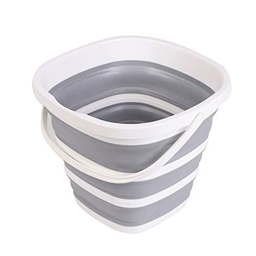 Whzjxb-zyp Silikon-Eimer for das Fischen Promotion Falteimer Auto-Wäsche im Freien Angelbedarf Platz 10L Badezimmer Küche Camp Bucket (Farbe : 02)