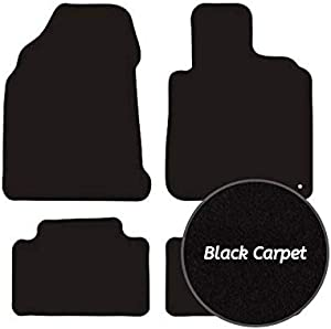 Premier Products Fully Tailored 650grm Black Carpet Mats for Qashqai  2007-2013  Round Fixing