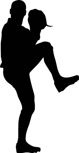 Sports Silhouette Wall Decals - Baseball Player Pitcher Lefty Leg Kick Silhouette - 48 inch Removable Graphic