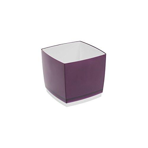 Hagsen Pot de Fleur, Cache Pot Designo Cube, Hauteur 13,5 cm, en Prune, Violet