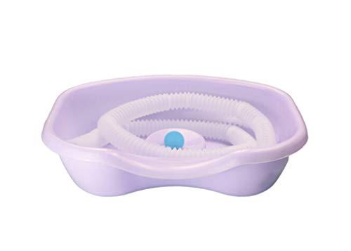 LYX@ Wassen Basin Verpleging Bed Huishoudelijke Kind Zwangere Vrouw Oude Man Shampoo Artifact Gift Supine Kussen Type Shampoo Hemel Blauw Licht Paars