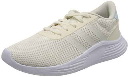 adidas Lite Racer 2.0, Scarpe da Corsa Donna, Chalk White/Chalk White/Ftwr White, 36 EU