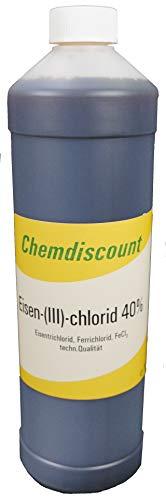 Chemdiscount 1Liter Eisen-III-chlorid (40% ige Lösung) (ca.1,5kg), Eisenchlorid, Ätzmittel