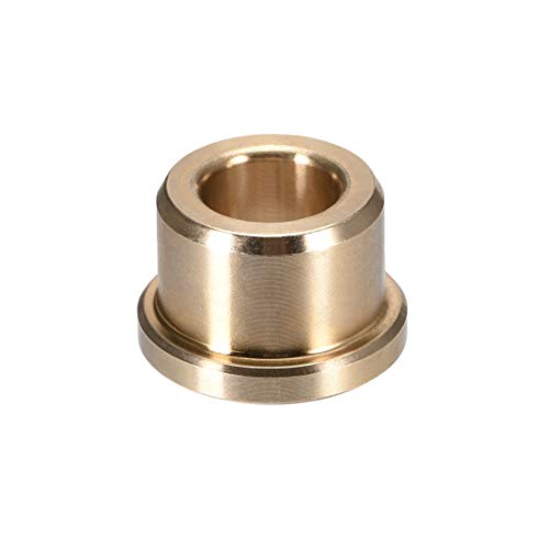 """uxcell Flange Bearing Sleeve 3/8"""" Bore x 5/8"""" OD x 1/2"""" Length x 3/4"""" Flange Dia. x 1/8"""" Flange Thickness Sintered Bronze Bushings"""