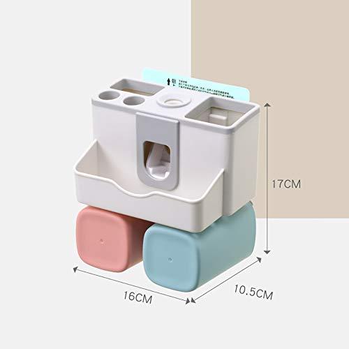 GLFZWJ Muur tandenborstelhouder Wash Set tandenborstel Box Invisible zuigtandenborstel houder met tandpasta