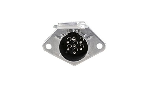 HELLA 8JB 003 833-001 Steckdose, Schraubkontakt aus Metall, 7 –polig, bei 24 V Belastung 15 A