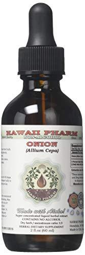 Onion Alcohol-Free Liquid Extract, Onion (Allium Cepa) Dried Bulb Glycerite Natural Herbal Supplement, Hawaii Pharm, USA 2 fl.oz