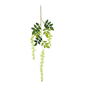 Grey990 1Pc Artificial Flowers Vine Wisteria Wedding Arch Gazebo Wall Decoration Home Garland