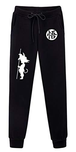 WANHONGYUE Anime Dragon Ball Z Goku Sweatpants Jogginghose Cosplay Kostüm Lange Trousers Sporthose Trainingsanzug mit Taschen Schwarz 6 L