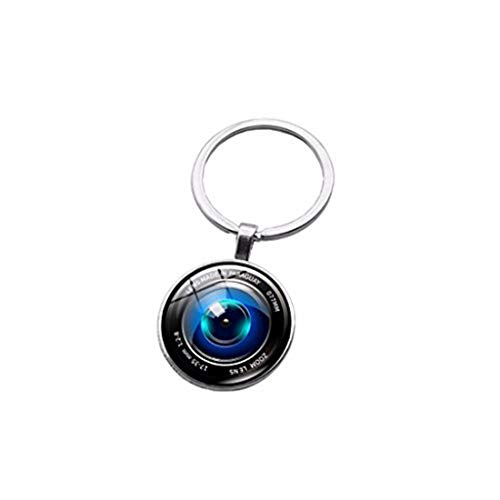 Youkeshan Llavero con forma de lente de cámara Glas Cabochon para coche para hombres y mujeres