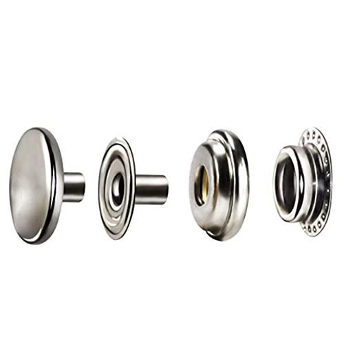 Tenglang-100 piezas de acero inoxidable con cierre a presión, botón de presión, botón de tapa, barco marino, juego de lona, accesorios de hardware marino para carteras, bolsos, manualidades, costura
