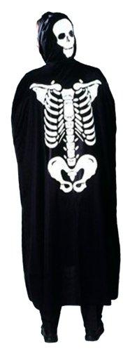 Cesar - H061-002 - Costume - Cape Dos Squelette Capuche - 5-10 ans
