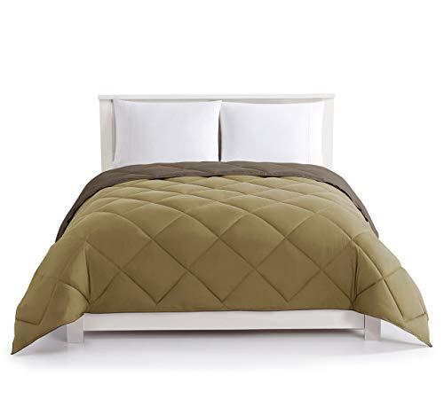 Chocolate/Taupe Down Alternative Reversible Comforter King
