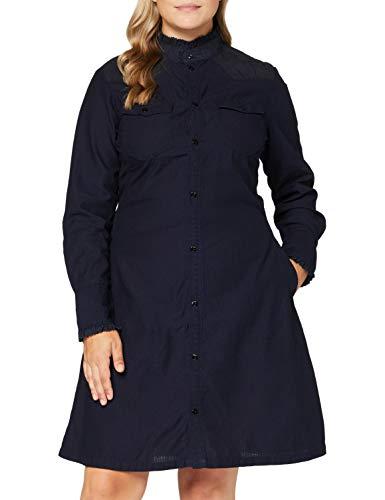 G-STAR RAW Damen Casual Dress Western Slim Frill, Rinsed 8349-082, Medium