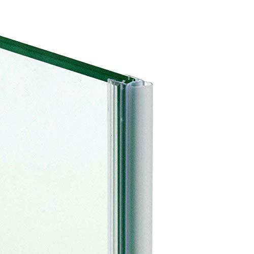 220cm - Guarnizione trasparente a palloncino per spessore 10mm, ricambio verticale per box doccia, ante in vetro/cristallo, vetrate panoramiche a tutto vetro-GPV10