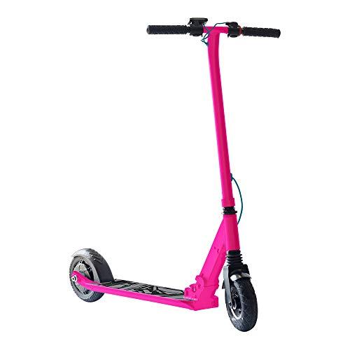 """SmartGyro Xtreme XD Patín eléctrico para niños y jóvenes, ruedas 8"""", 3 velocidades, plegable, ligero, autonomía de 18 Km, batería de litio, freno eléctrico, Scooter, luces traseras, Rosa"""