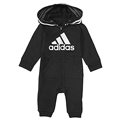 adidas Girls and Baby Boys' Coverall, Black, 3 Months by adidas
