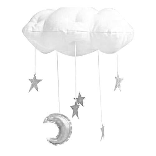 Wolke Anhänger, Babydecke Mobile Hängende Dekorationen, Baby Photo Prop, Kinderzimmer DIY Sterne und Mond Girlande Anhänger für Kinderzimmer, Baby-Dusche