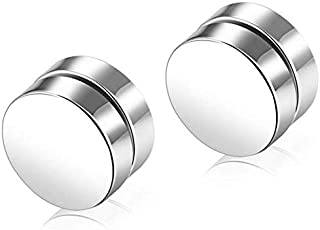 Men's Piercing Titanium Steel Magnetic Round Ear Clips