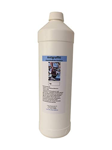 1l Anti Graffiti Antigrafitti Beschichtung Fassadenimprägnierung | Antigraffiti Wandfarbe macht Schluss mit Schmiererei an Wänden | Graffiti Schutz hydrophobierend, Schlagregen fest, UV-stabil