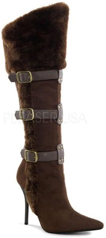 Dark Brown Viking Buckle Straps Costume Boot