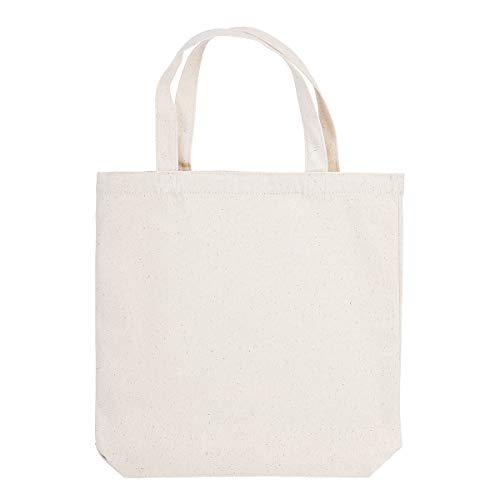 Darice Unfinished Canvas Totes: Natural, 13.5 x 13.5 Inches, 3 Pack