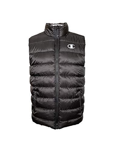 Champion Puffer Vest Jacket (Large, Black)